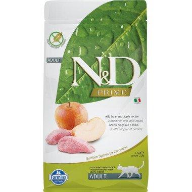 Farmina N&D Prime grain free sanglier pomme pour chat adulte 1,5kg