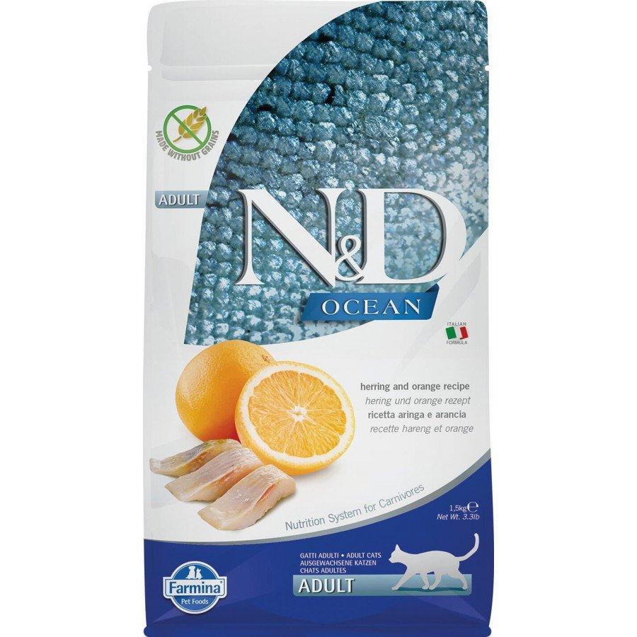 Farmina N&D Ocean grain free poisson orange pour chat adulte 1,5kg