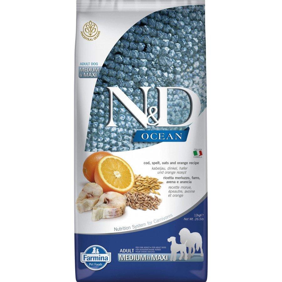 Farmina N&D Ocean low grain poisson orange pour chien adulte medium-maxi 12kg