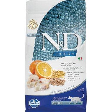 Farmina N&D Ocean low grain poisson orange pour chat adulte 1,5kg