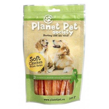 Planet Pet Society friandise lamelles de poulet pour...