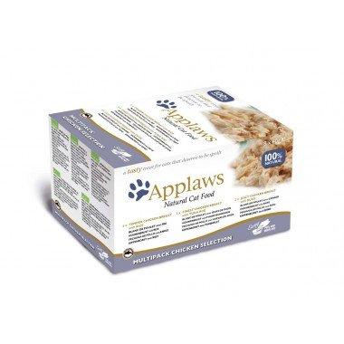 Applaws multipack pots 8x60gr pour chat adulte - 2...
