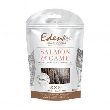 Eden friandises naturelles saumon & gibier (chiens et chats) 100gr