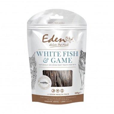 Eden friandises naturelles poisson blanc & gibier (chiens et chats) 100gr