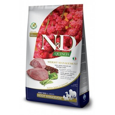 N&D grain free quinoa agneau - gestion du poids (chien)