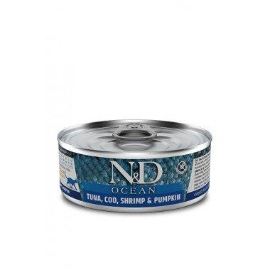 N&D Océan humide morue, crevettes, potiron (chat)