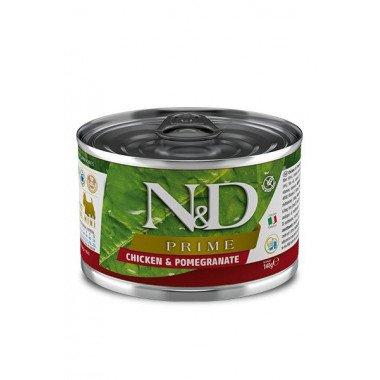 N&D Prime humide poulet, grenade (adulte mini)