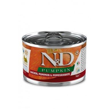 N&D Potiron humide poulet, grenade, potiron (adulte mini)