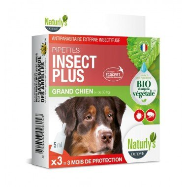 Naturly's Pipettes Insect Plus Chien 25-50kg