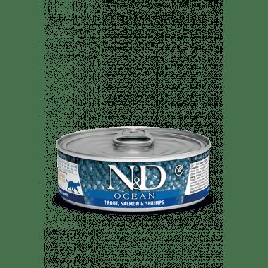 N&D Océan humide truite, saumon, crevettes (chat)