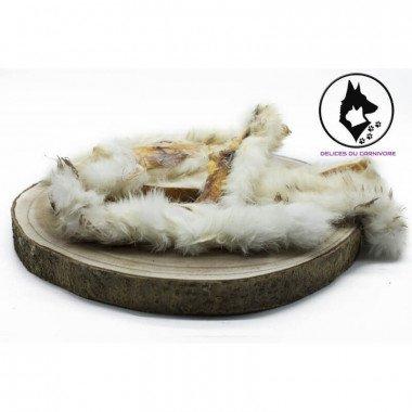 friandise naturelle peau de lapin avec fourrure