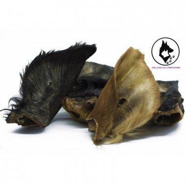 friandise naturelle oreilles de boeuf avec fourrure